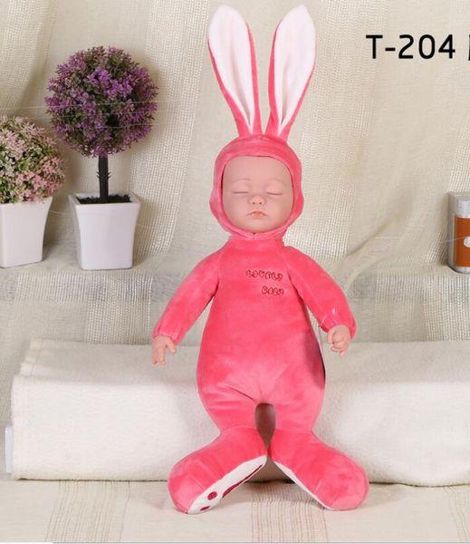 Simulation baby doll soft rubber sleep baby comfort accompany sleeping cute doll singing children plush doll toy