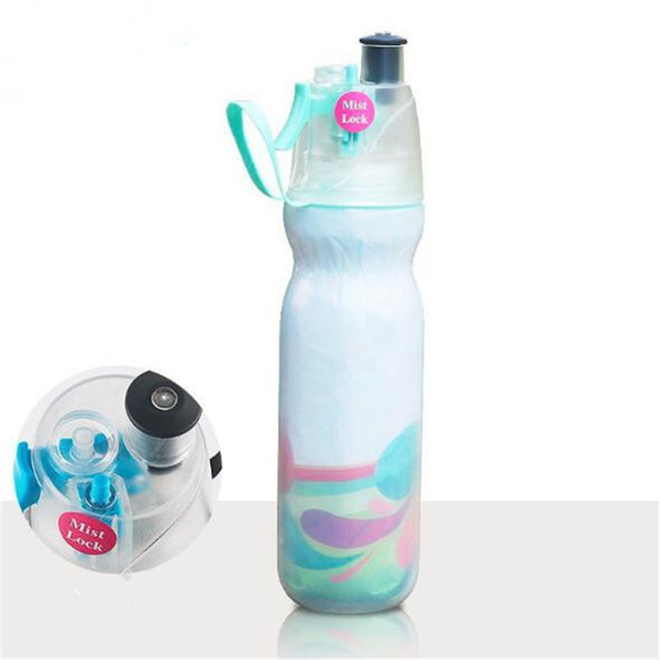 30pcs 590ml Bicycle Drinking Spraying Water Bottle Summer Cooling Outdoor Camping Gym Sports Double Layer Sip And Mist Spray Water Bottle