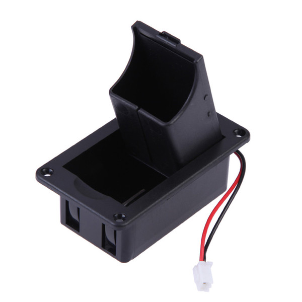 top popular 1pc ABS 9V Battery Box Case Cover Holders for Guitar Bass Pickup for Ukulele With Wires Black High Quality Replacement Accs 2021