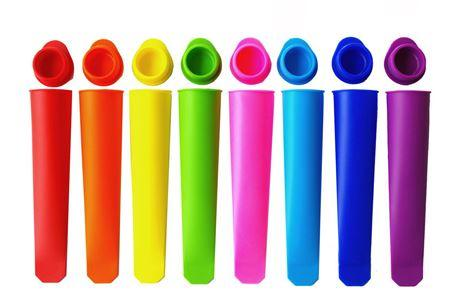 Colorful Silicone Push Up Ice Cream Jelly Lolly Pop Maker holder bag Popsicle Mould Mold wn017