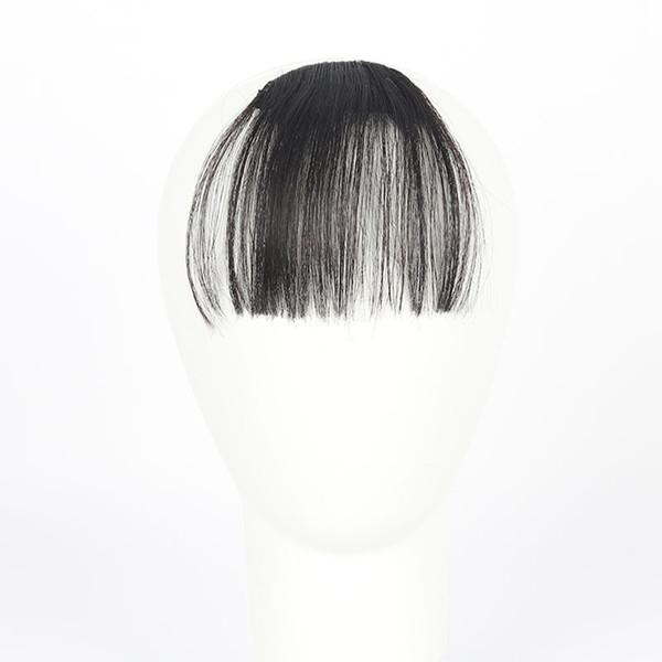 La parrucca di cura dei capelli sta clip graziose delle ragazze sulla clip nella parte di estensione della frangia dei capelli di scoppio della parte anteriore di caduta Trasporto di goccia sottile July25