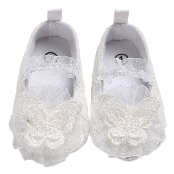 2018 New Girl Flowers Lace Princess Shoes The First Walker Baby Girl Spring Autumn Cotton Toddler Shoes Fashion Children's