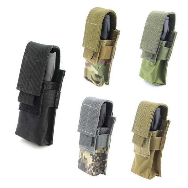 top popular 12cm x 5cm x 3cm Outdoor M5 Tactical Flashlight Bag Tactical OC Spray Flashlight Pouch Holster 2021