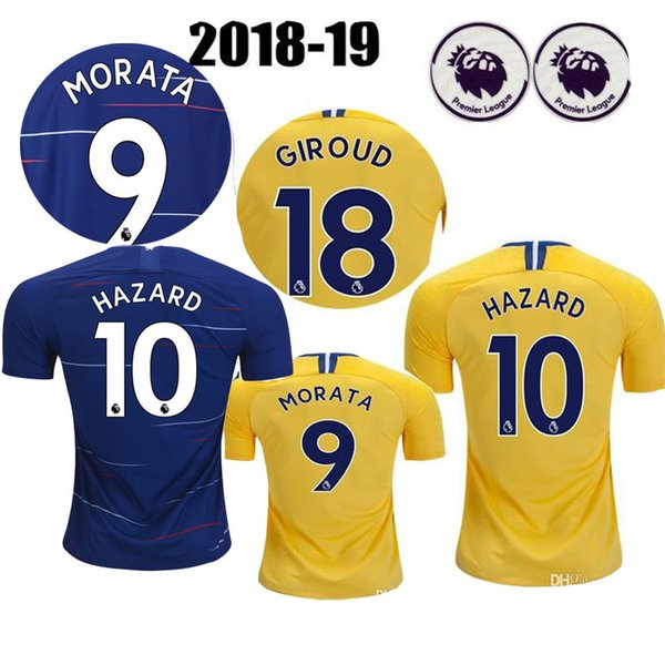 quality design 67f2a 579d3 2019 18 19 TOP Quality Chelsea Soccer Jersey 2018 2019 Home Blue White  Willian HAZARD Pedro DIEGO COSTA KANTE WILLIAN DAVID LUIZ Football Shirts  From ...