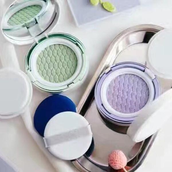 Korea Cosmetic Laneige Skin Veil Base Air Cushion BB Concealer Light Green Purple Color
