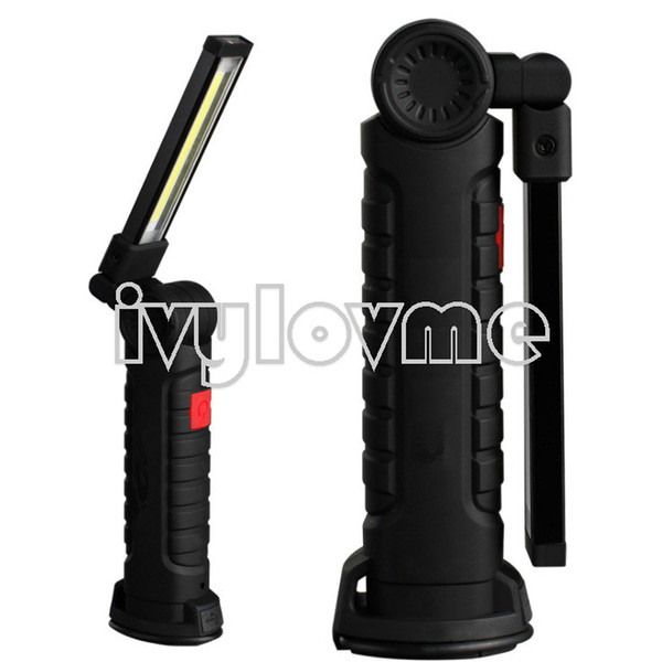 Ultra Bright USB Rechargeable COB LED Magnetic Flashlight 2000Lumens High Power Torches Magnetic Stand Emergency Lighting (Large) Hot