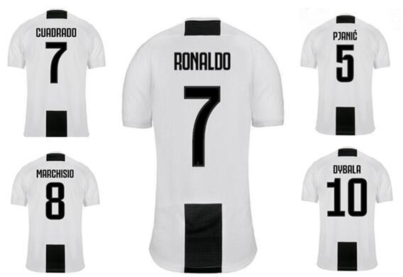 Customized 18-19 Thai Quality Soccer Jerseys Shirts tops,Custom 9 Higuaín 7 Ronaldo Cuadrado 10 DYBALA 3 Chiellini 8 Marchisio Soccer wear