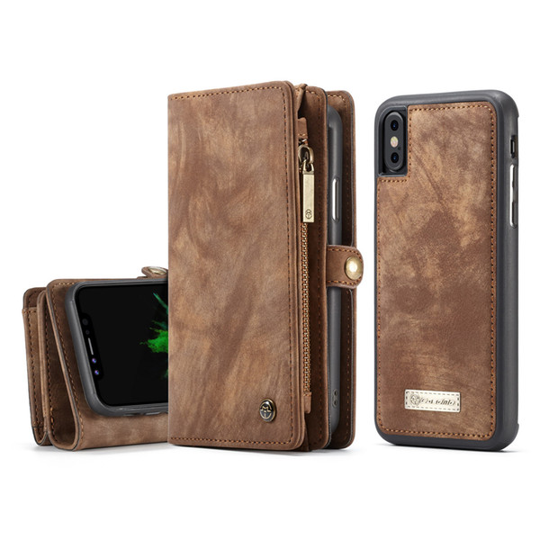 Custodia a Portafoglio per iPhone 7 Plus / iPhone 8 Plus Caseme 2 in 1