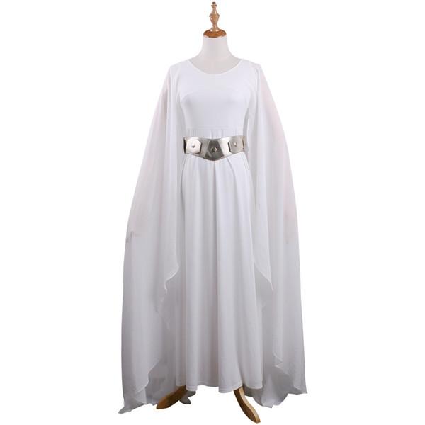 Großhandel Die Heiße Film Sw Prinzessin Leia Kostüm Weißes Kleid