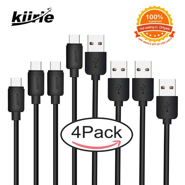 kiirie type c cable pack 4 data lines 1m 2m cell phone fast charging cables goophone x huawei samsung s8 s9 lg usb c cables