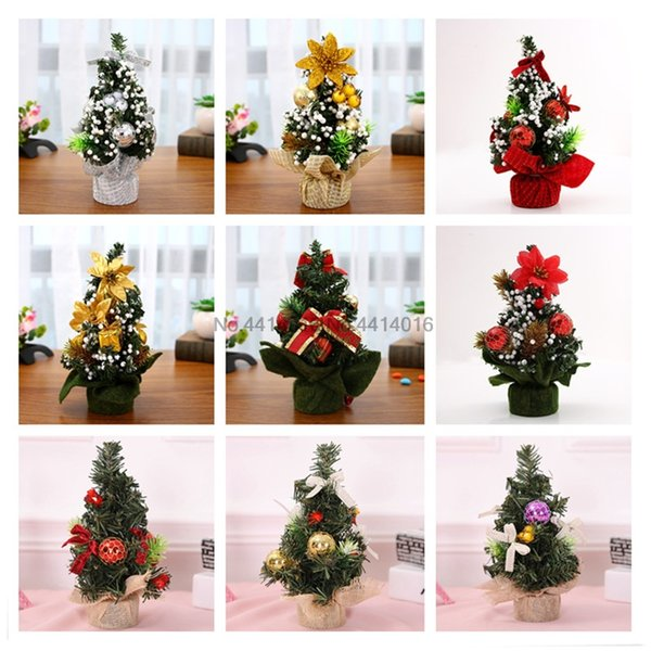 8style 20cm Christmas Tree Decoration New Year Christmas Gift Ornament Decor Celebrate Mall Decoration Desktop Ornaments Tree 5w