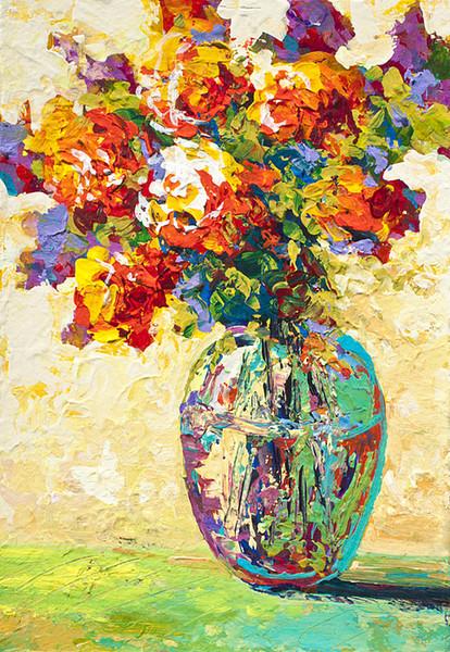 YJ ART-abstract-boquet-iv-без рамы современный холст стены искусства для украшения дома и офиса,Живопись ,анималистическая живопись ,живопись рама