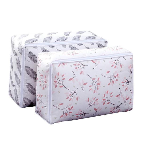 JILIDA 1PC Foldable Tranparent Clothes Duvet Storage Bag Underwear Closet Organizer For Pillow Quilt Blanket Bedding Container