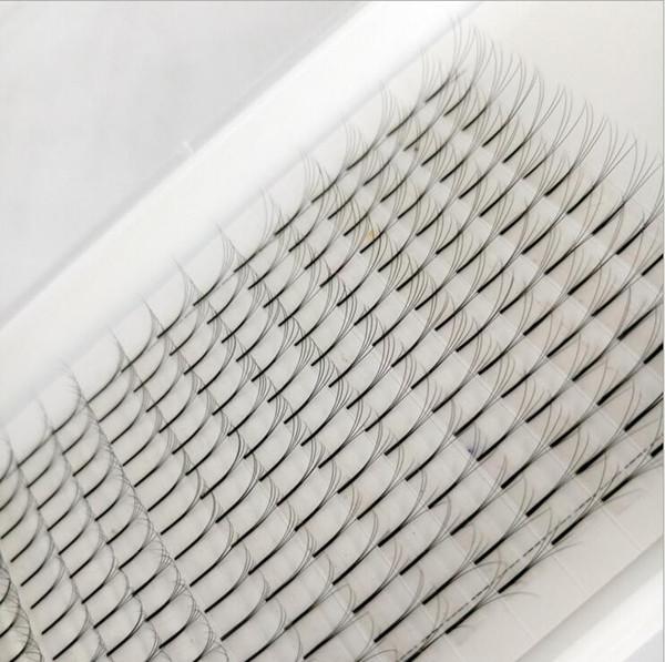 1 Tray 4D False Eyelashes Fans Single Root Volume Clustered Eyelashes Safe Long Black Professional Fake Mink Lashes