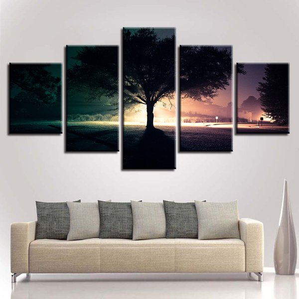 Modular Pictures Wall Art Canvas Poster Modern HD Print Painting 5 Panel Nature Night Landscape Frame Home Decor Living Room