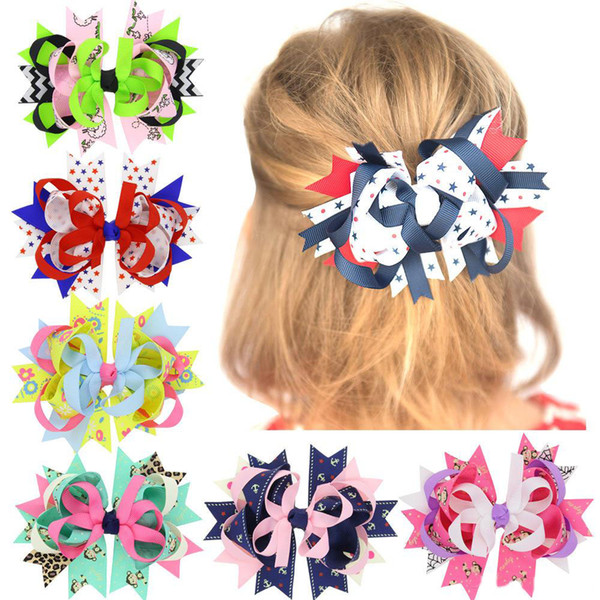 New Ribbon Bowknot Hair Clip Barrette Bobby Pin Fashion Accessories for Kids Gift Drop Ship