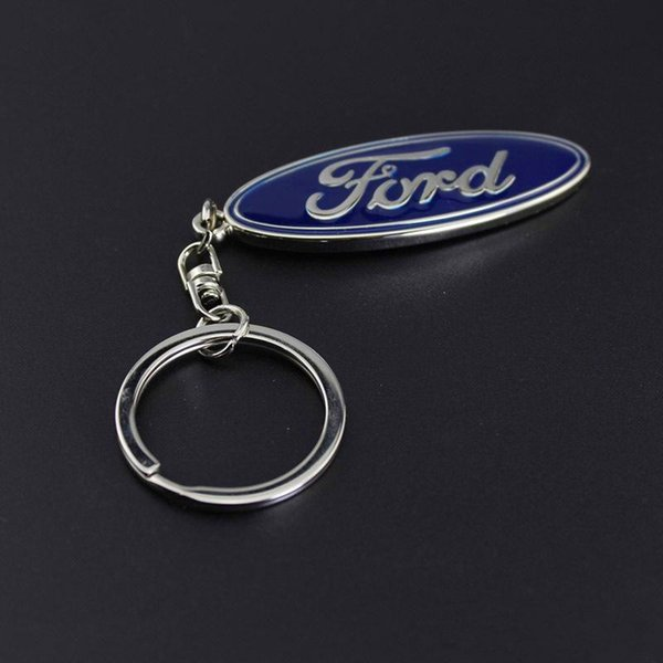3D Metal Car Key Ring Fashion Brand Auto Emblem Keychain for Ford Car Styling Accessories Key Chain New Car Buyers Gift Dropshipping