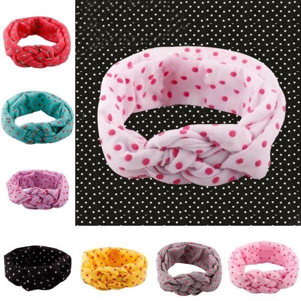 Nueva moda de la venta caliente Lovely Kids Gilrs Knit Hairband Head Wrap trenzado de Navidad diadema cruz Headwear 10 estilos del regalo del bebé G63Q