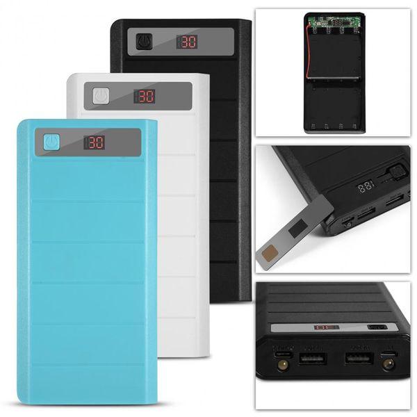 20000mAh 8 x 18650 Batteries Power Bank Kit Case Shell Dual USB + Type-C + Micro USB Port power bank kits shells 2017 new