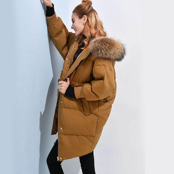 2019 90% White Duck Down Jacket 2018 Winter Jacket Women Natural Raccoon Fur Collar Female Parka Womens Winter Jackets And Coats