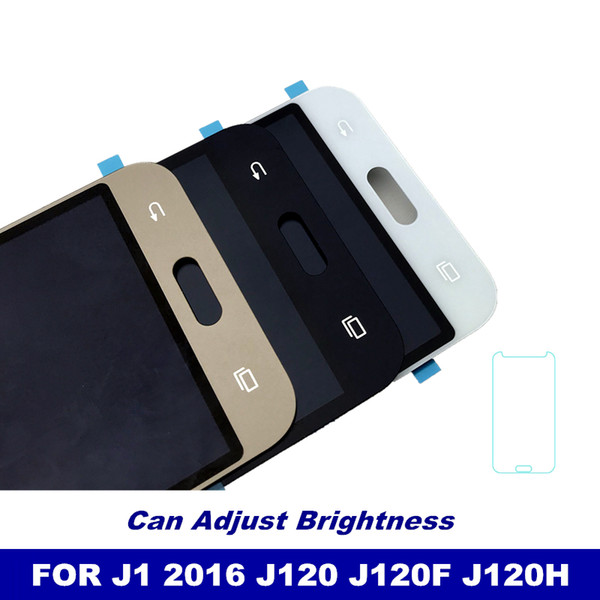 Reemplazo LCD para Samsung Galaxy J1 2016 J120 J120F J120M Pantalla J120H Pantalla táctil digitalizador Asamblea puede ajustar brillo