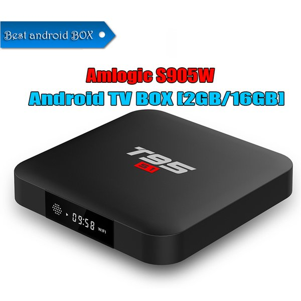 Amlogic S905W android tv box 2.4G WiFI 100M Lan internet media android box 2GB 16GB 4k ultra smart tv player T95 S1 better than tx3 mini