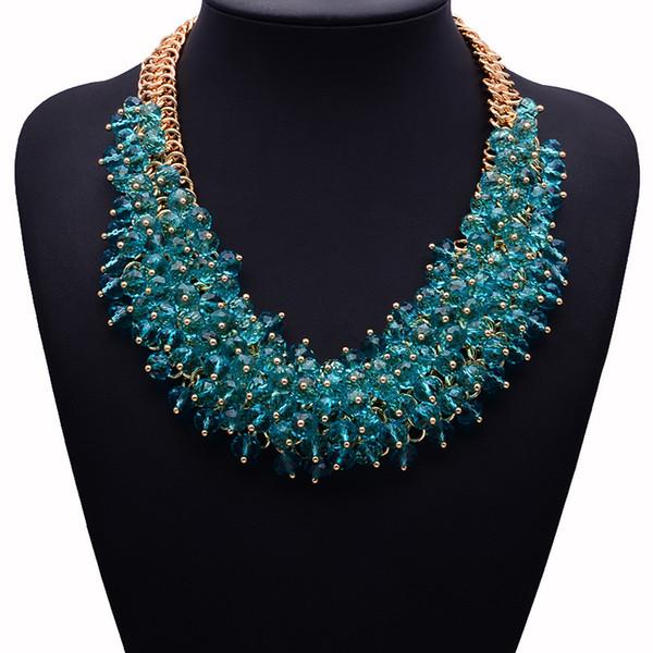 Vendita calda di alta qualità Z collana di moda XG134 collare bavaglino collane pendenti di cristallo grosso collana gioielli dichiarazione per le donne