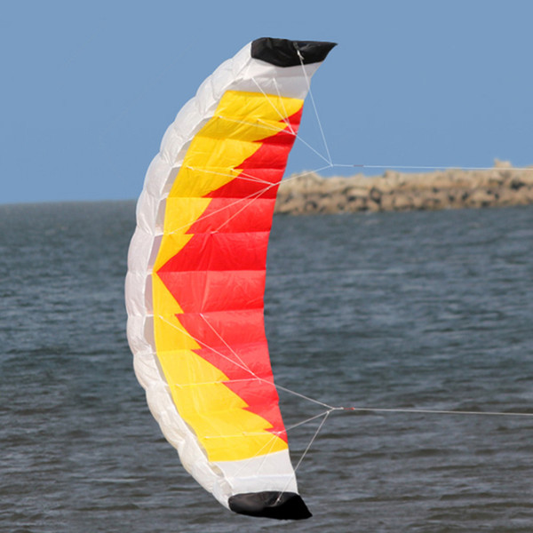 "79"" x 27.5"" Large Dual Line Stunt Parafoil Kite Outdoor Sports Fun Toy with 30M Line Sailing Kitesurf Rainbow Sports Beach toys"