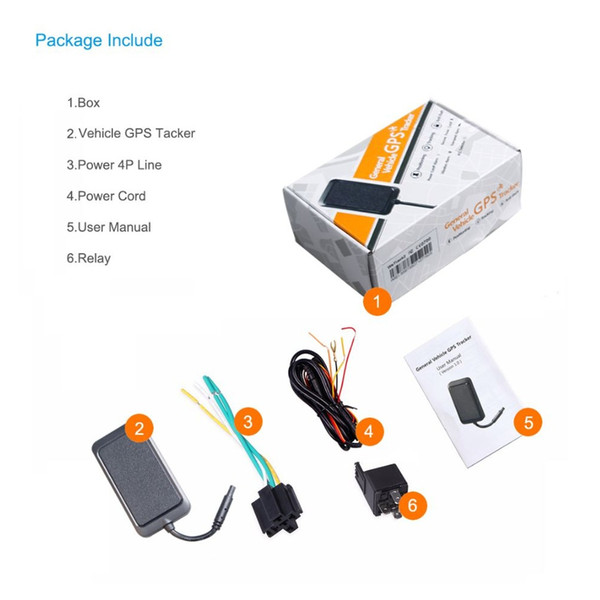 Newly WeTracker2 Hot 9V- 90V Standard Voltage General SMS GSM GPRS GPS Vehicle Tracker Built-in Battery For Vehicle Car Locator