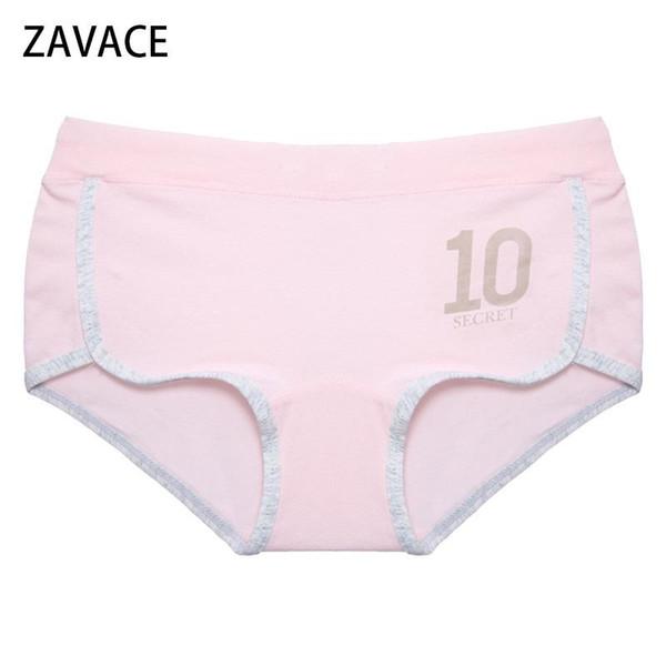 fde7e589a5ca ZAVACE 3pcs/lot 2018 Cotton soft solid color cute girl breathable college  wind underwear female