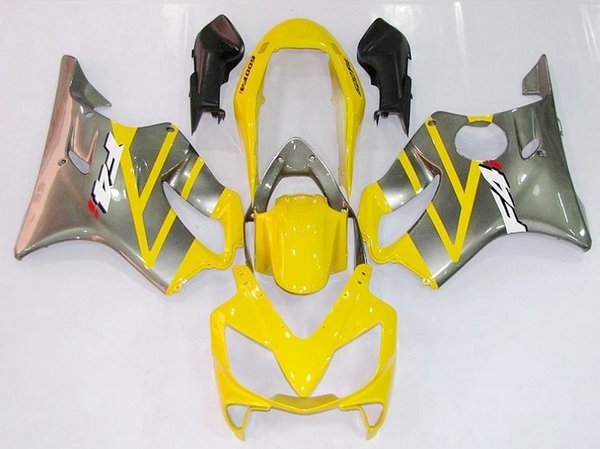 New 100% Fit Injection molding for HONDA CBR 600 F4i fairings 2004 2005 2006 2007 CBR600 F4i bodyworks 04 05 06 07 F4i Yellow Silver L3255