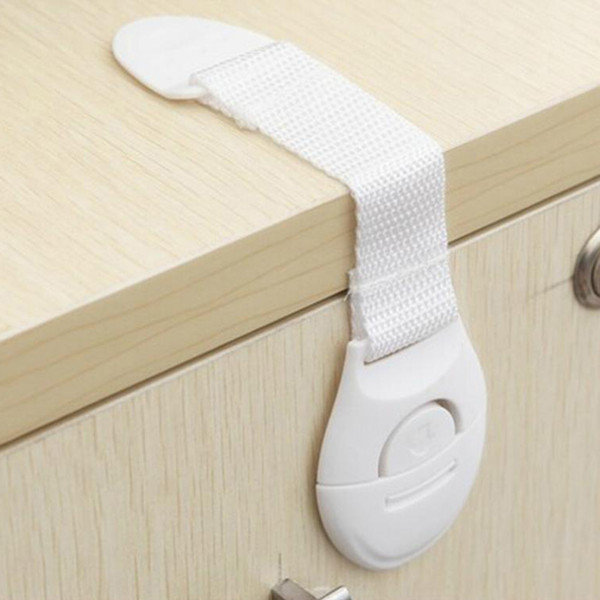 top popular Baby Kids Safety Locks Lengthen Drawer Door Cabinet Cupboard Strap Safety Locks Plastic Children Protection Care Locks 2021