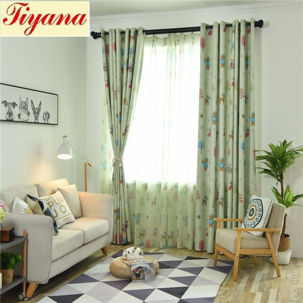 2019 blue christmas curtain green sheer semi blackout curtains for rh m dhgate com