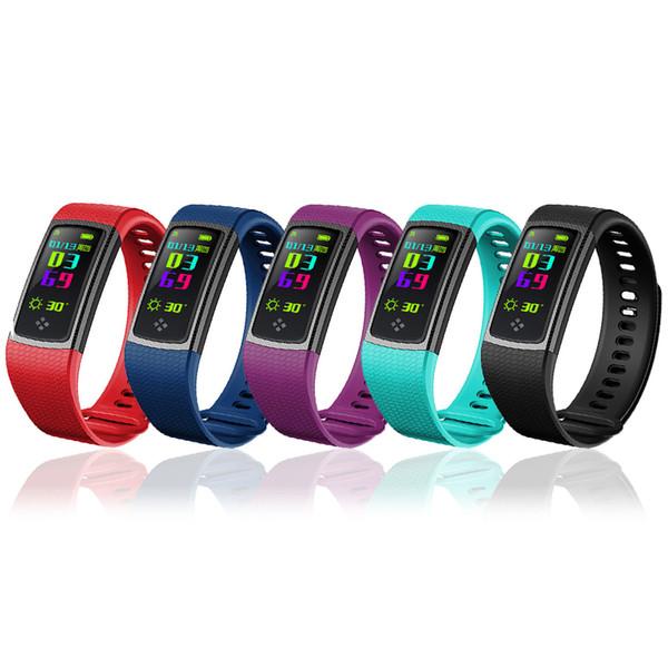 FORCA intelligente Banda S9 schermo a LED cardiofrequenzimetro Bracciale fitness Ossigeno Impermeabile Wristband della pressione sanguigna per Smart Phone