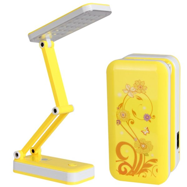 AC90V ~ 240V Foldable and Adjustable Built-in Battery Desk / Table Lamp with 8 or 24 LEDs On for Study Reading HOA_523