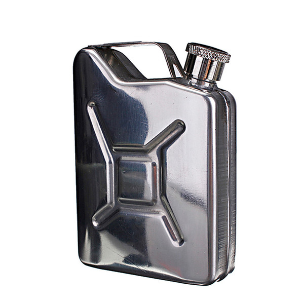 New Wholesale 5oz Stainless Steel Jerry Can Mini Hip Flask Liquor Whisky Pocket Bottle + Funnel Freeshipping C1