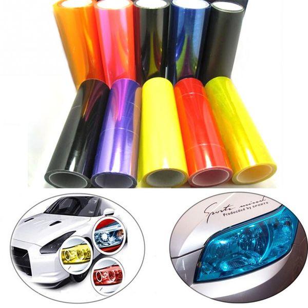 Motorcycle Auto Car Light Headlight Taillight Color Tinting Film Adhesive Transparent Sticker 30cmX 100cm