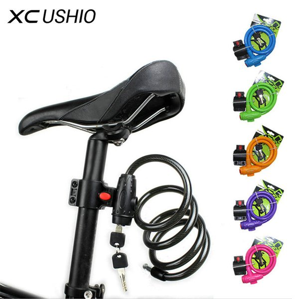 100cm Bike Lock Durable Steel Cable Bicycle Locks Road Bike Cycling Mountain padlock Anti-Theft Chain Lock 6 Colors Onsale