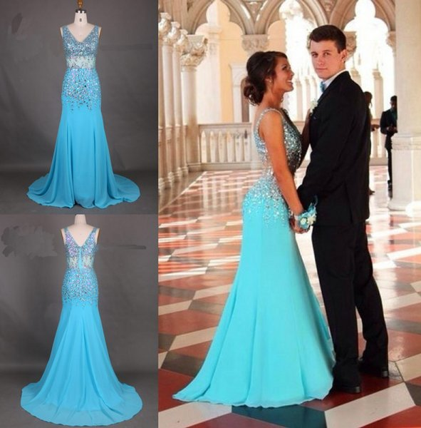 Brilliant Mermaid Prom Dresses V Neck Sweep Train Special Occasion Dress Popular Evening Dressesccasion Dress Popular Evening Dresses