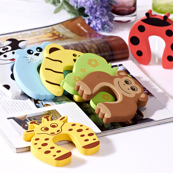 best selling New Care Child kids Baby Animal Cartoon Jammers Stop Door stopper holder lock Safety Guard Finger 7 styles