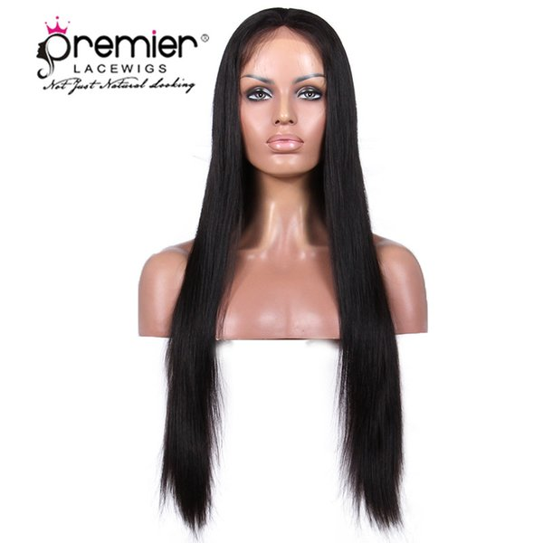Premier 360 Lace Frontal Wigs 4.5 pulgadas Deep Parting brasileña Virgin Hair Wigs Silk Yaki Straight 150% densidad Pelucas de encaje humano