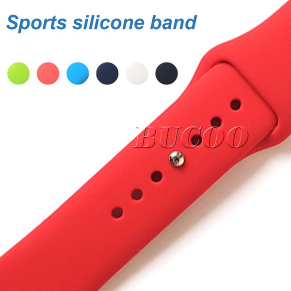 28 Colors Silicone Sport Band Replacement For Apple Watch 4 3 2 40mm 44mm 38mm Band Watchstrap Soft Rubber Wrist Bracelet Strap Wristband