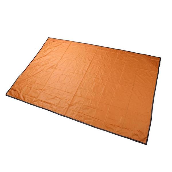 Pocket Camping Blanket Lightweight Waterproof Beach Picnic Blanket for Outdoor Activities (Orange)