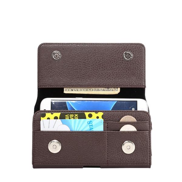 wholesale For Huawei P Smart Plus/nova 3i/Nova 2i Horizontal Waist Holster Bag With Card Slots Magnetic Pouch Litchi pattern Cover