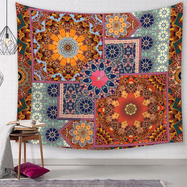 beautiful boho bohemian tapestry vintage floral indian wall hanging decoration for home elephant moroccan tapiz decor