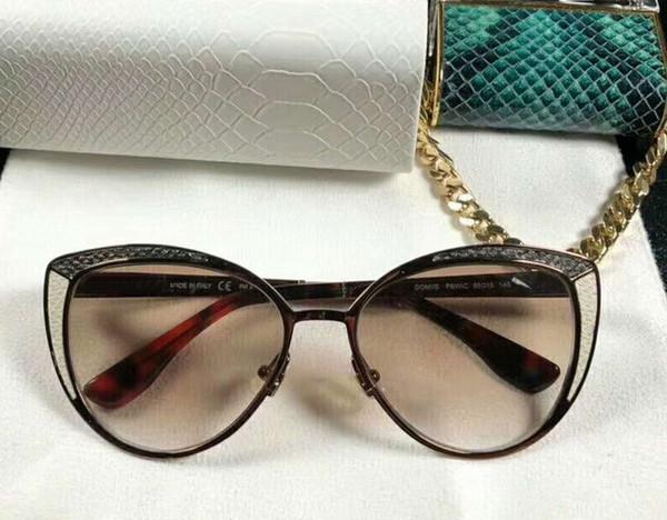 Dunkelgraue Katzenaugen-Sonnenbrille DOMI / S Occhiali da Sole Luxusdesigner-Sonnenbrille gafas de Sol Neu mit Kasten