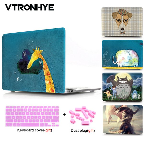 VTRONHYE Cartoon Patterns Case Protective For MacBook 12 inch Air 11 13 Pro 13 15 Retina 15 New Pro 13 15'' with Touch Bar
