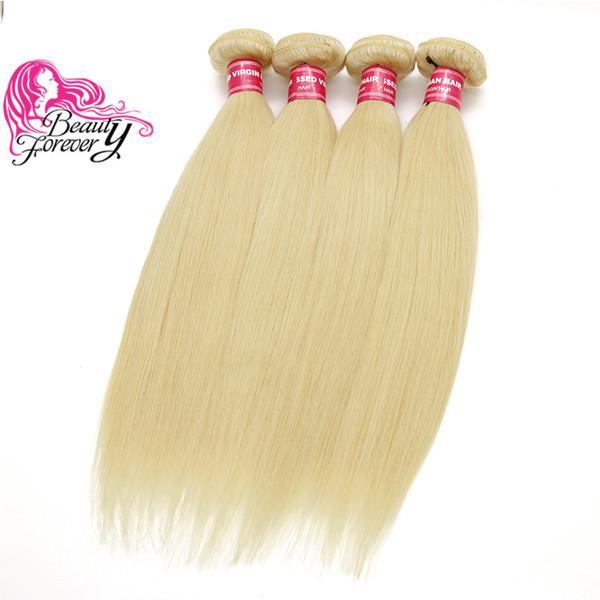 Bellezza per sempre 613 estensione dei capelli biondi 8a tessuto brasiliano dei capelli bundles 16-24 pollici dritto capelli umani remy 4 bundles nave libera all'ingrosso