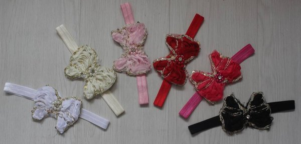 50pcs 9cm chiffon bow flower for girls hair headband accessories,hair bow supplies for babies