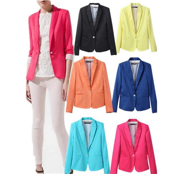 Новый пиджак женщин пиджак складной бренд куртка из хлопка спандекс с подкладкой моде обновить блейзеры Y1891901